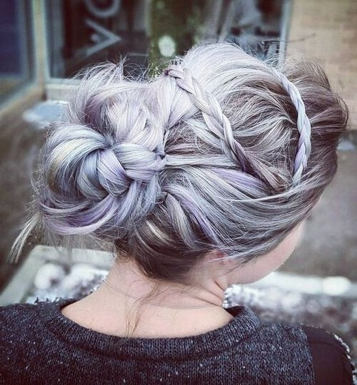 прическа синее плетение