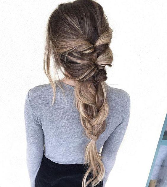 Широкая французская коса,
