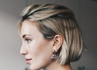 Красивая короткая стрижка на темные волосы - Модное каре 2020 с челкой - фото тенденции