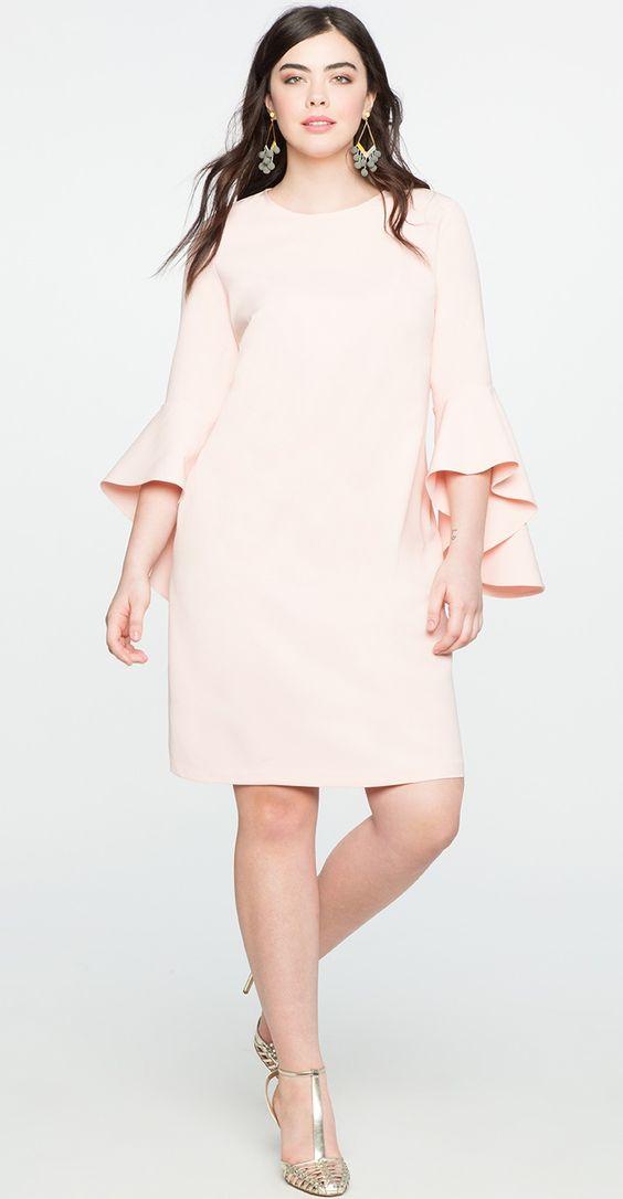 мола 2019, фото однотонного платья большого размера