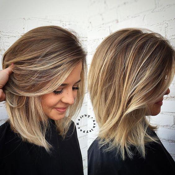 градуированная стрижка каре на средние волосы