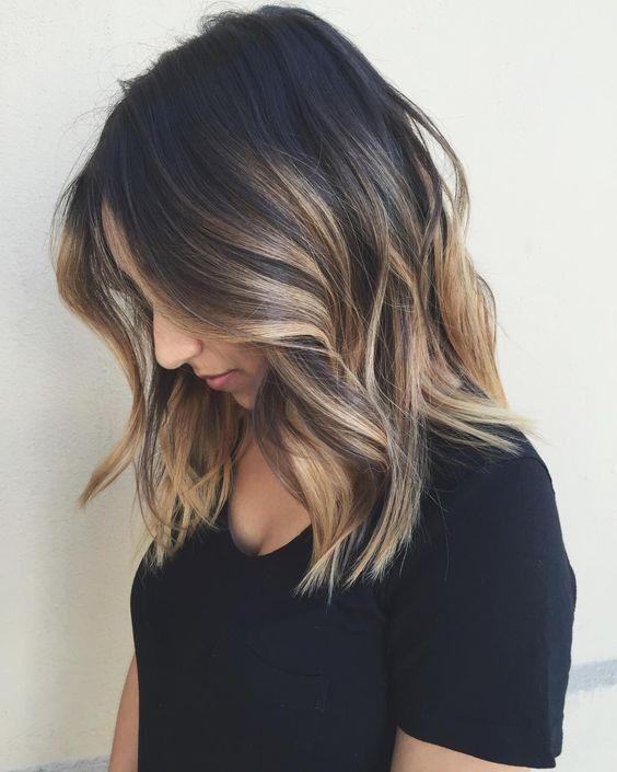 стрижка каре на средние волосы с окрасом амбре
