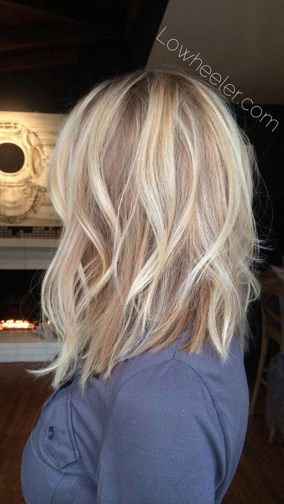 градуированная стрижка на средние волосы