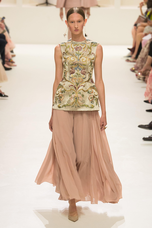 Christian Dior модная блузка 2019 с узорами и цветочной вышивкой