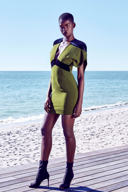 HANEY короткое платье 2019 черно-зеленого цвета