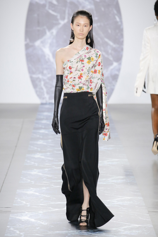 Hellessy черная длинная юбка 2019 с разрезом
