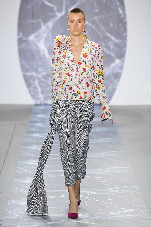 Hellessy модная блузка 2019 с цветочным принтом и большим цветком