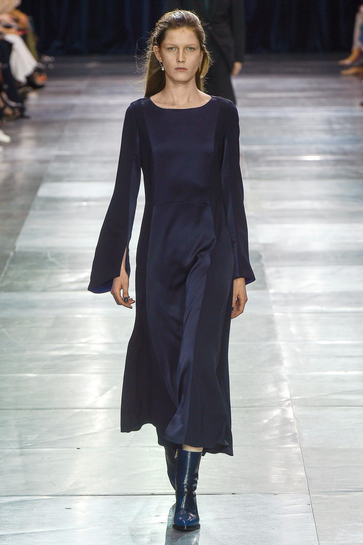 Paul Smith темно-синего цвета удлиненное платье 2018-2019