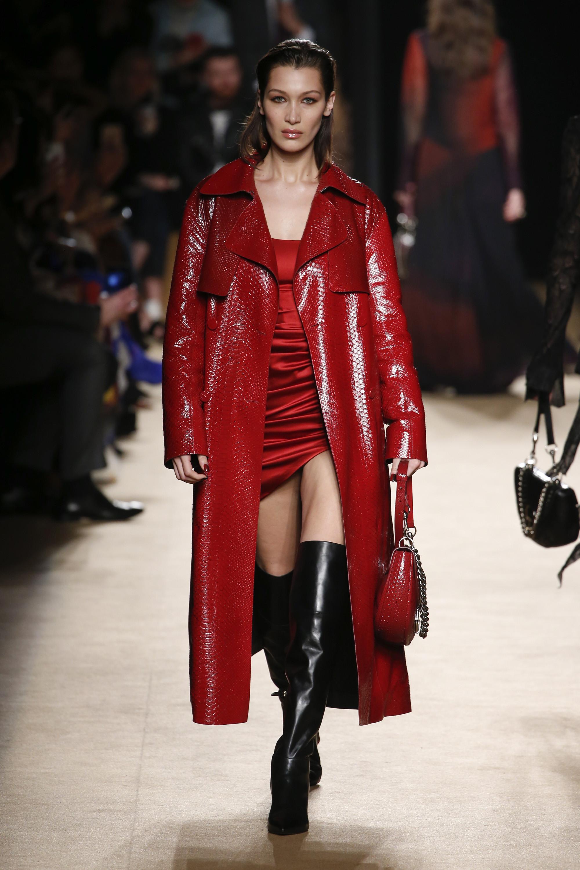 Roberto Cavalli пальто из эко-кожи 2019 красного цвета