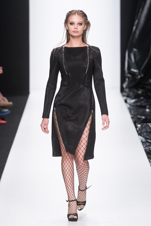 Sensus Couture черное платье 2019 на молниях
