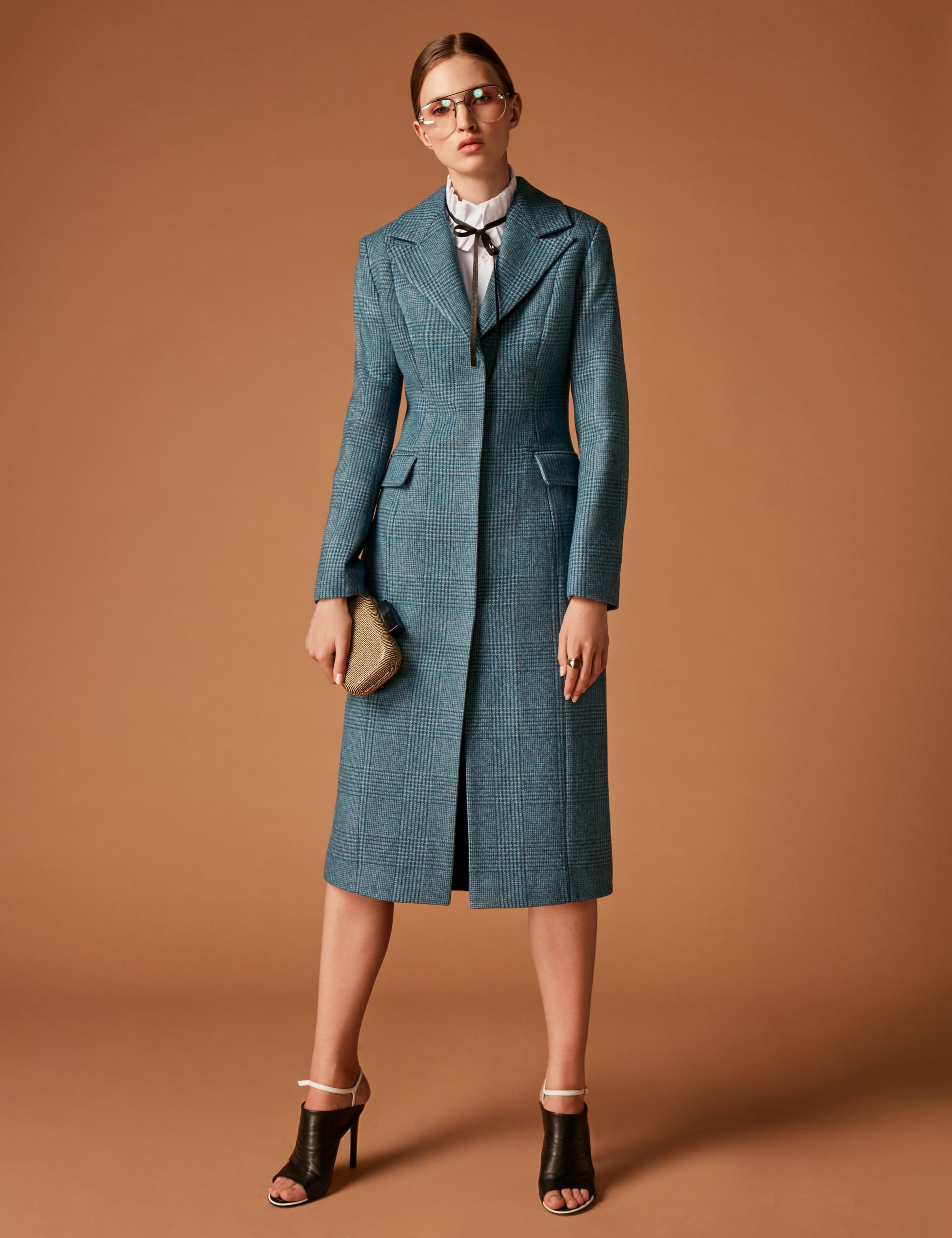 Soeasy элегантное приталенное пальто 2019 в клетку