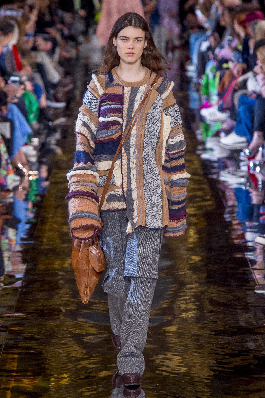 Stella-McCartney разноцветный вязаный модный кардиган 2019 с длинными рукавами