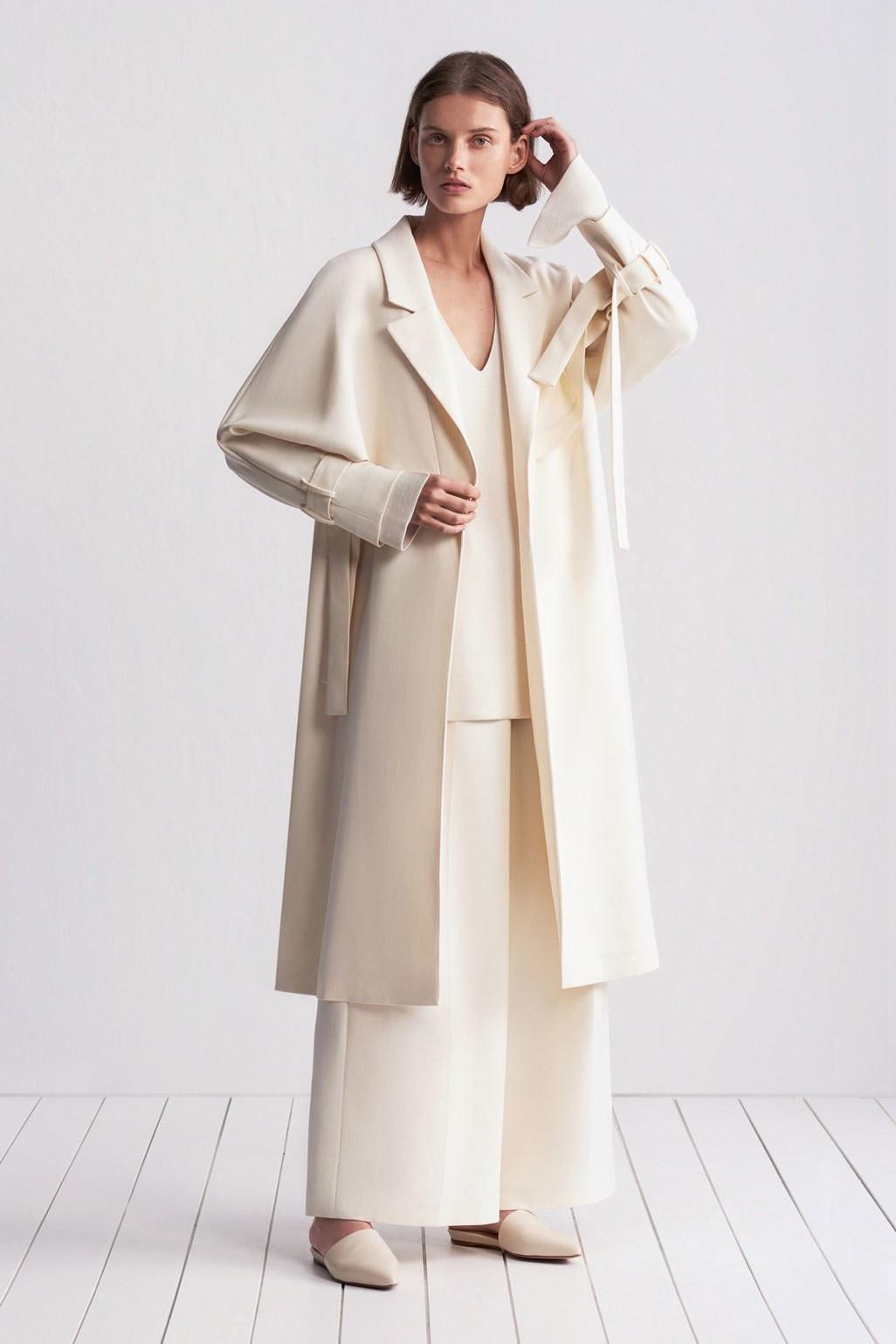TSE элегантное пальто 2019 белого цвета