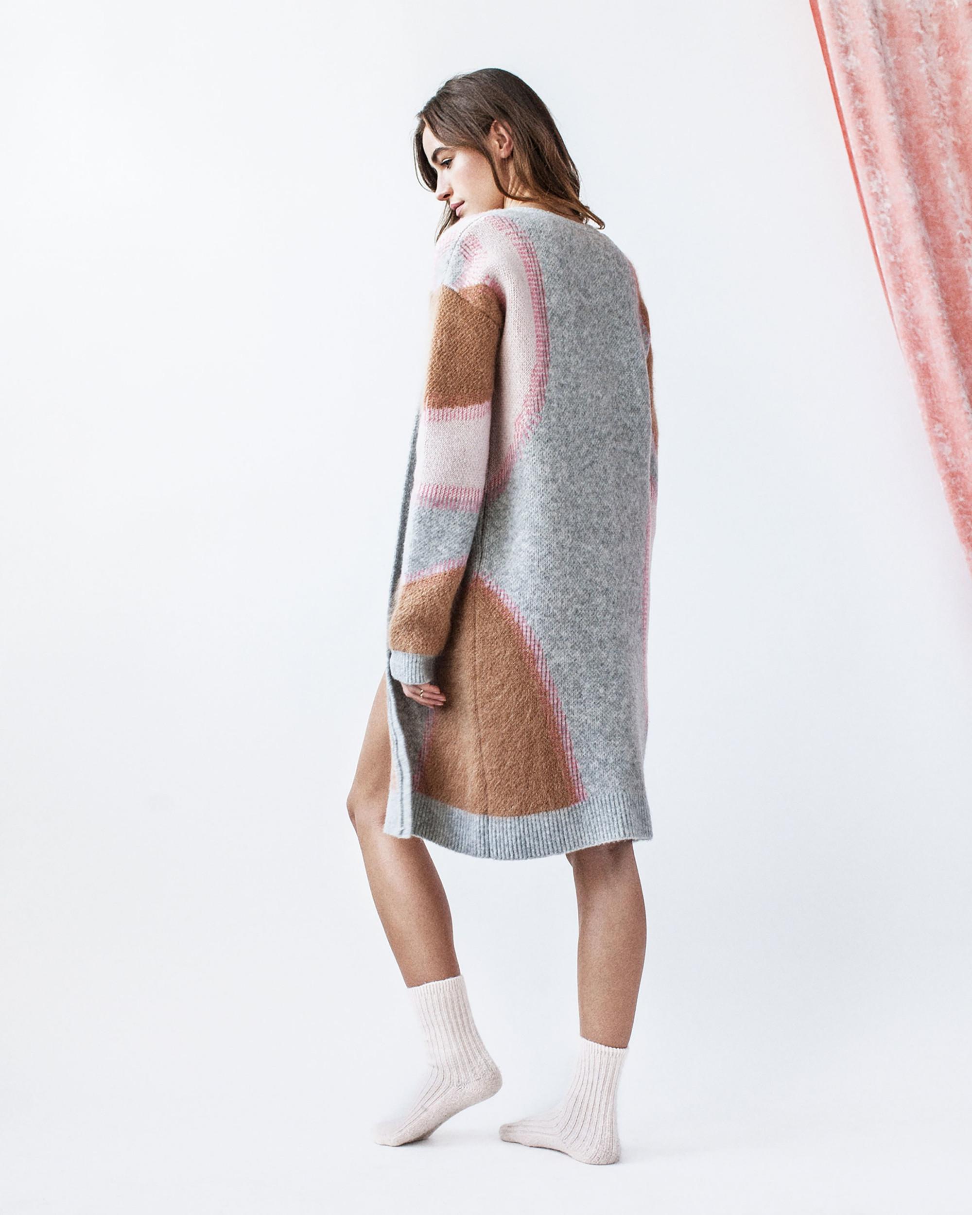Tabula Rasa модный кардиган 2019 серо-коричнего цвета