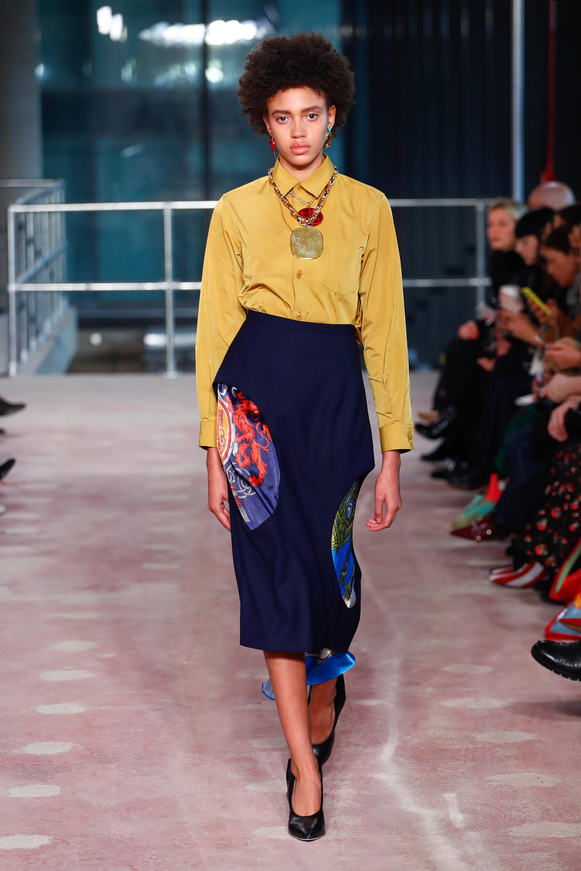 Toga модная блузка 2019 ярко желтого цвета