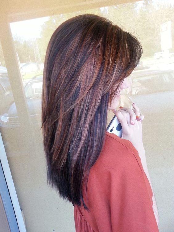 Прическа для длинных волос женщины 40 лет, фото вид сбоку