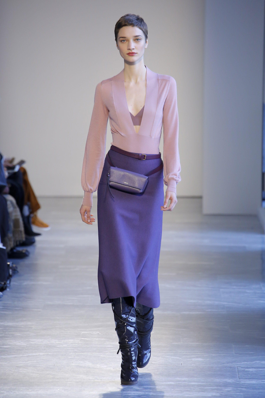 Agnona модная юбка 2019 яркого фиолетового цвета