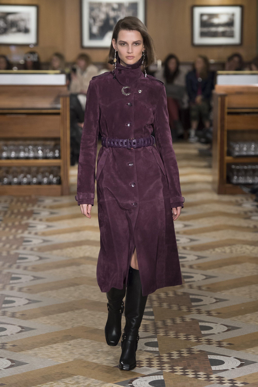 Altuzarra модное пальто 2019 фиолетового цвета