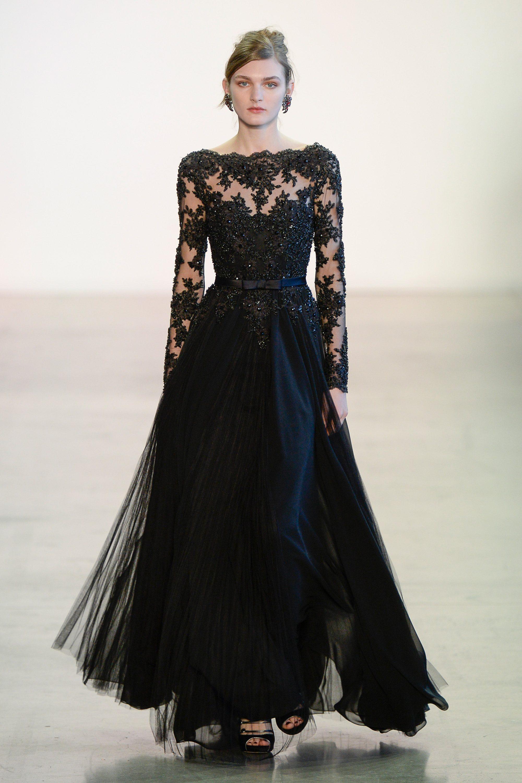 Badgley Mischka черное роскошное кружевное платье 2019
