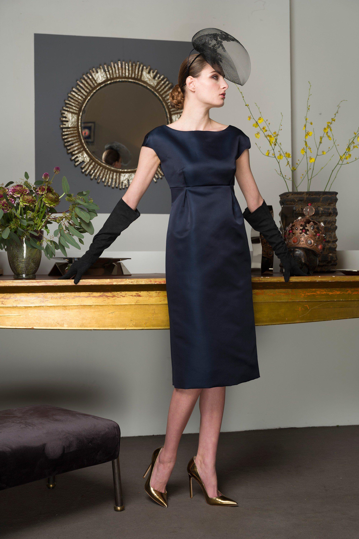 Barbara Tfank черное платье 2019 с завышенной талией