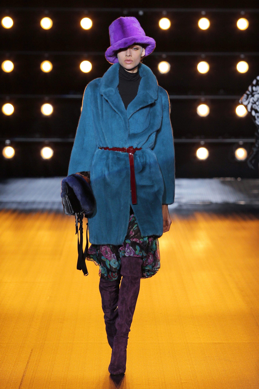 Braschi синяя модная короткая шуба 2019