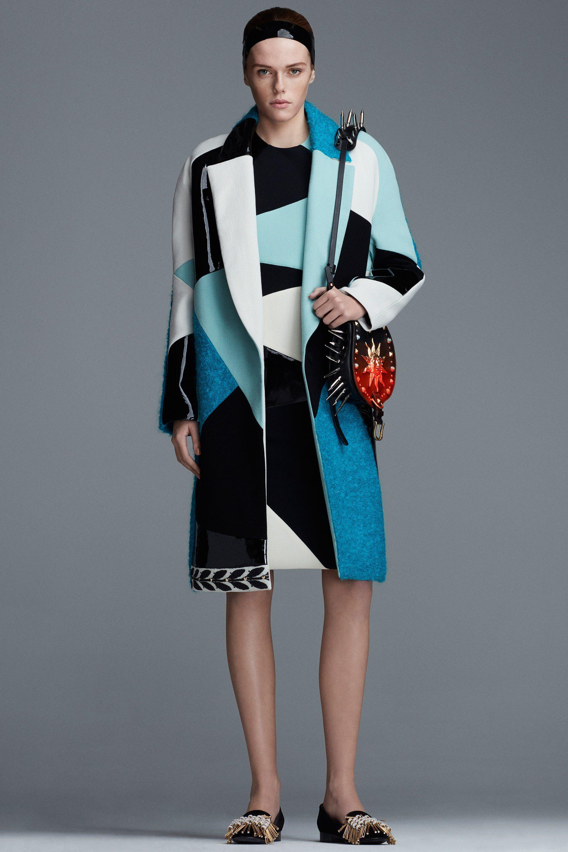Fausto Puglisi модное пальто 2019 с геометрическим узором