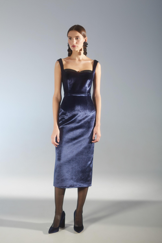 House of Fame темно-синего цвета платье 2018-2019