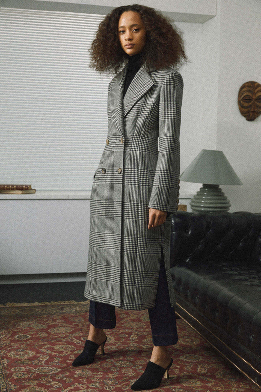 Khaite модное женское пальто 2019 в клетку