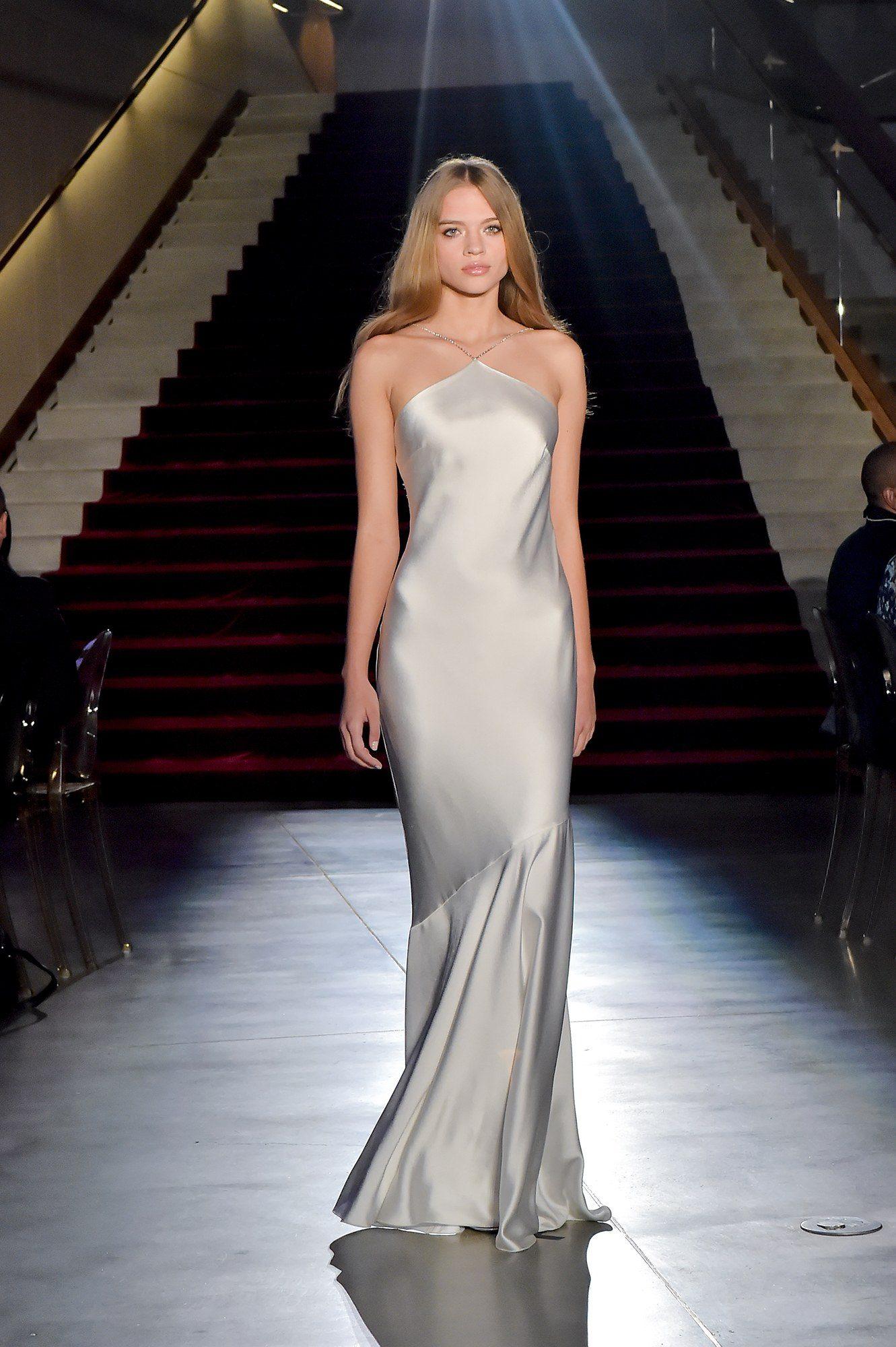 Rachel Zoe элегантное белое платье в пол 2019 декольте