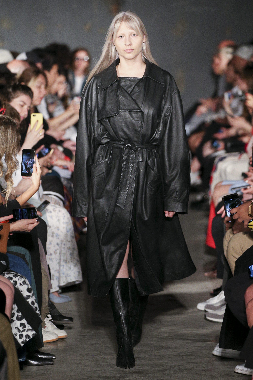 Situationist длинный кожаный женский плащ 2019 в стиле милитари