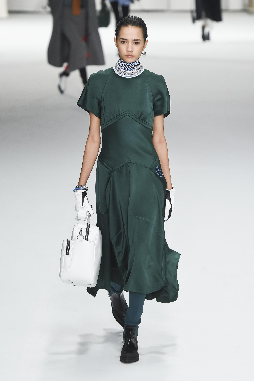 Sportmax зеленого цвета шелковое платье 2018-2019