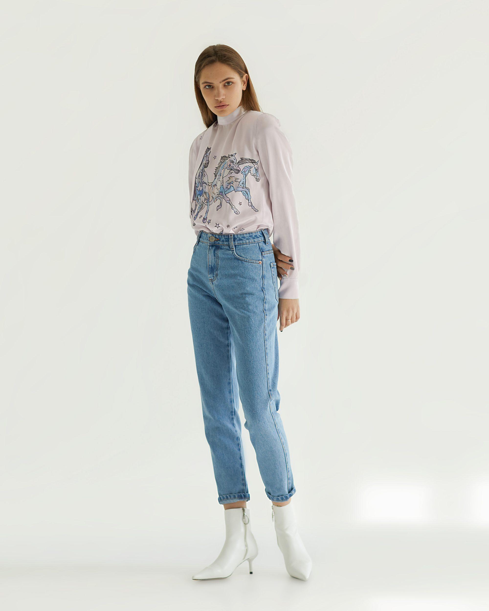 Tatman короткие полусапоги с укороченными джинсами с высокой посадкой 2019