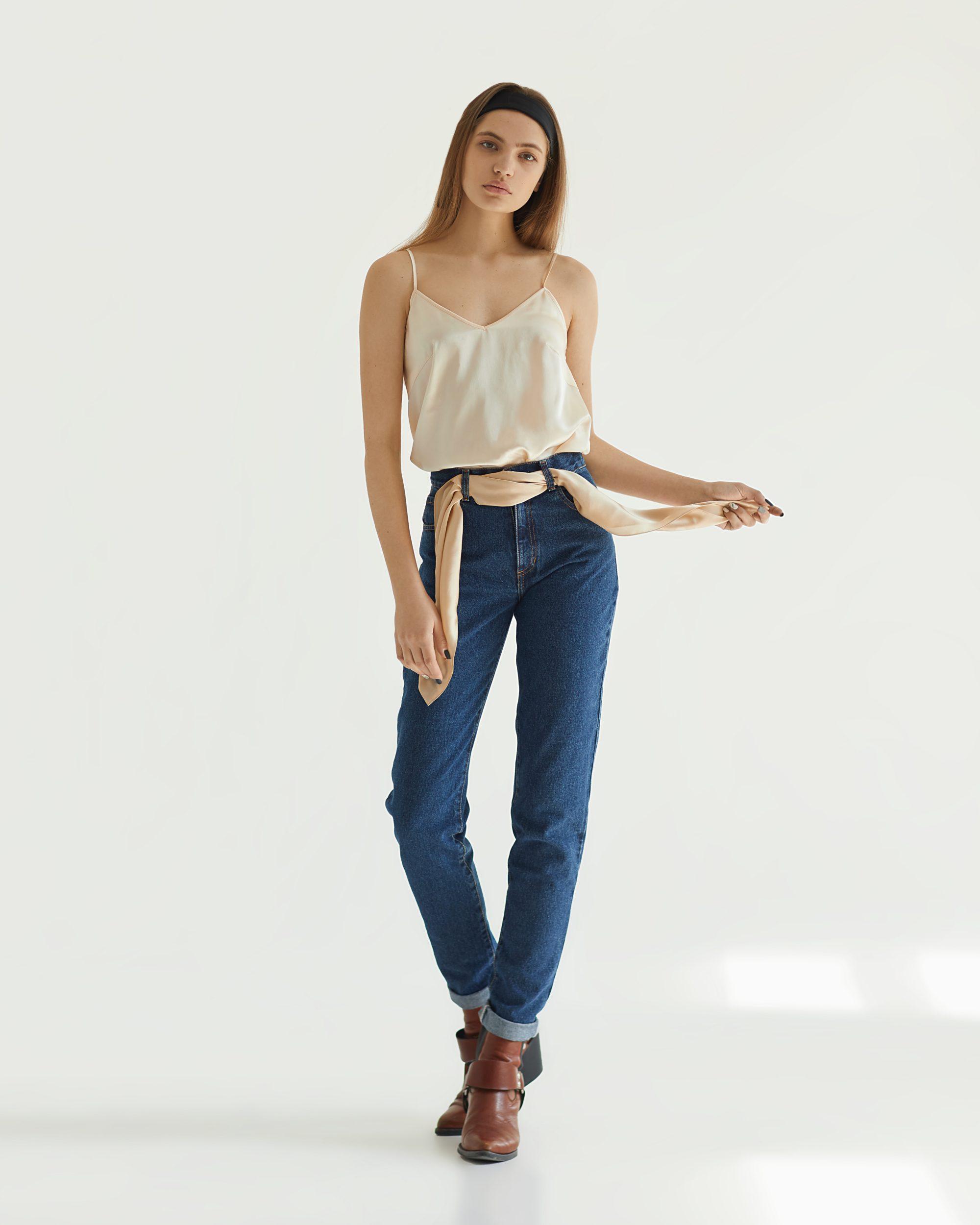 Tatman модные женские джинсы 2019 прямого кроя с летним топом