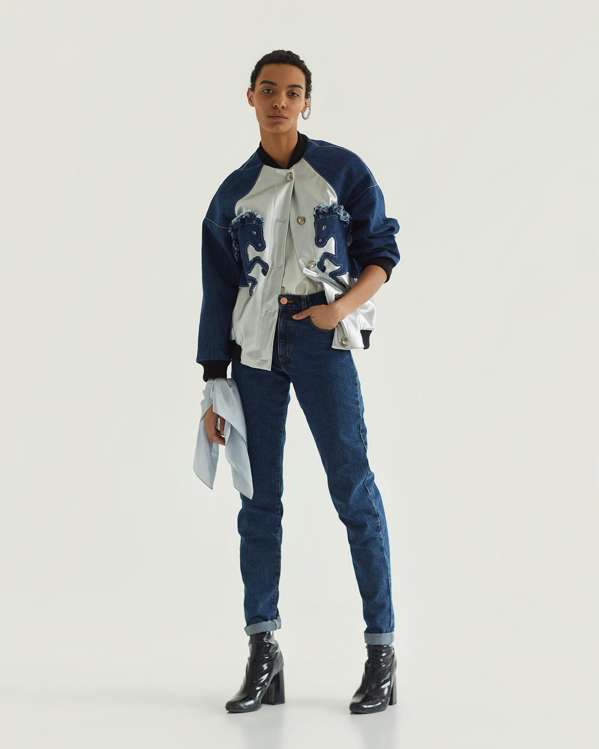 Tatman джинсы и модная джинсовая куртка, тренды 2019 года