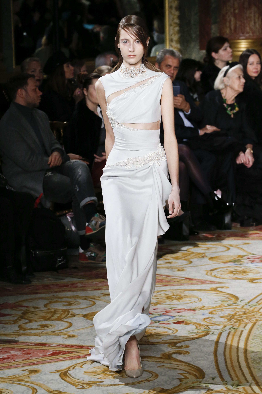 Длинное обтягивающее платье 2019 из коллекции Valentin Yudashkin