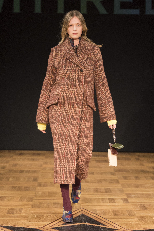 Whistles модное женское пальто в клетку 2019