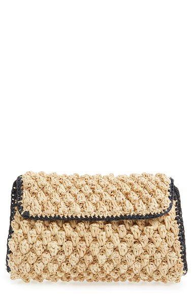 Модная вязаная сумка клатч