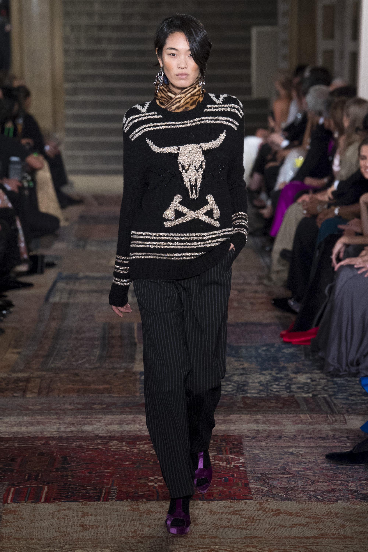Ralph-Lauren кофта черного цвета 2019 с крупным принтом серебристого цвета