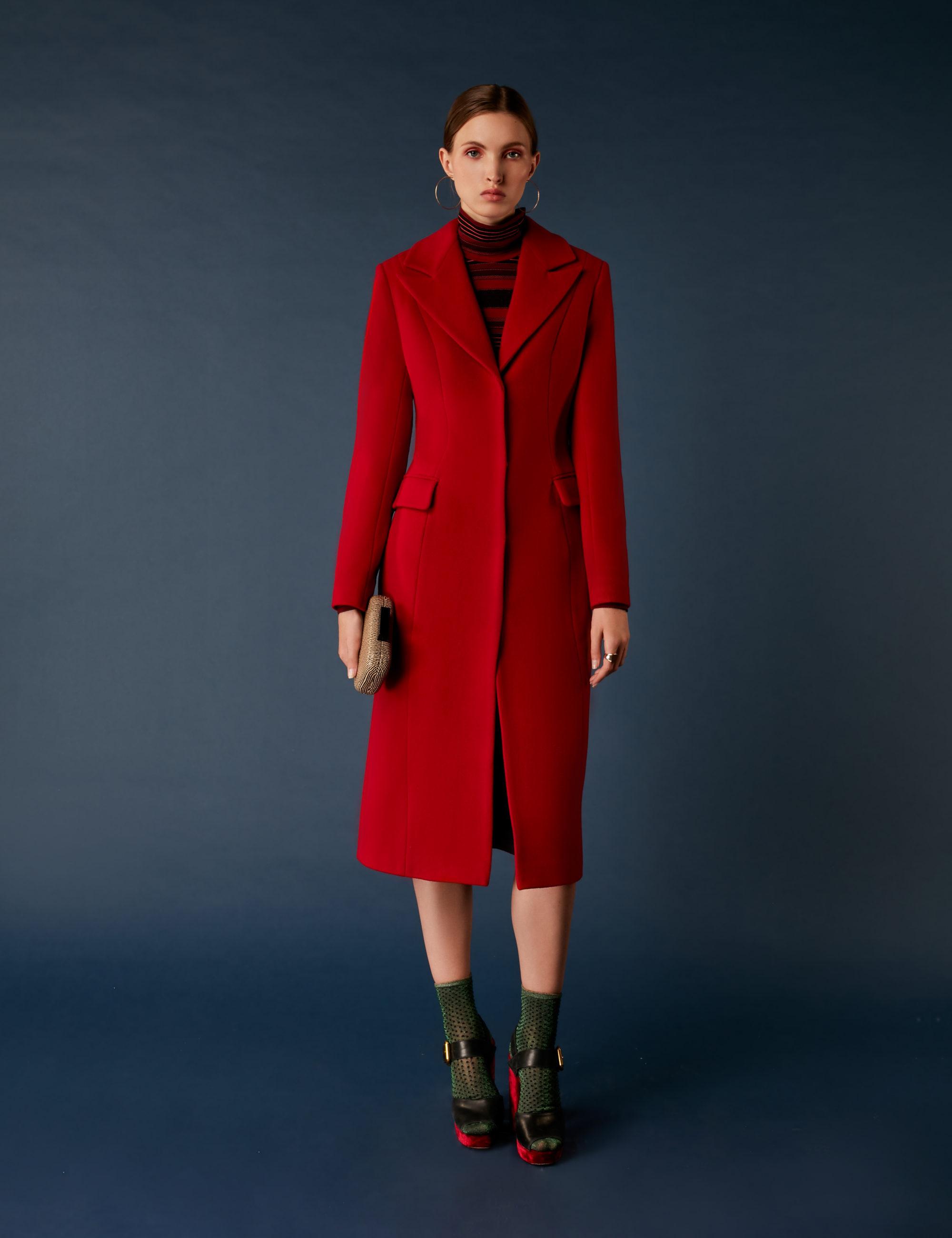 Soeasy элегантное пальто 2019 красного цвета