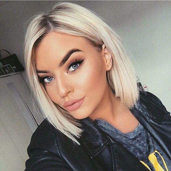 стильное каре и окрашивание волос для молодых девушек